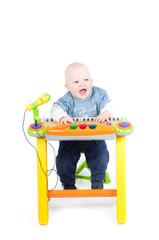 Little boy in studio