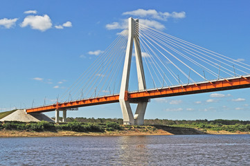 New guyed bridge in Murom, Russia
