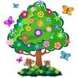 Albero Primavera-Springtime Tree-Vector