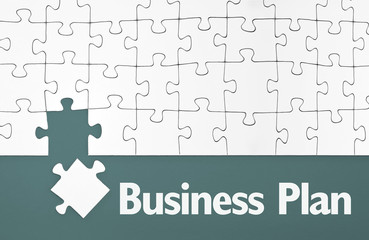 Puzzle mit Business Plan