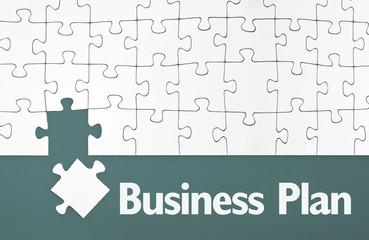 Puzzle mit Business Plan