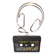 Audiokassette, Musikkassette, Kassette, Silhouette, Kopfhörer