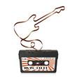 Audiokassette, Musikkassette, Kassette, Silhouette, Gitarre