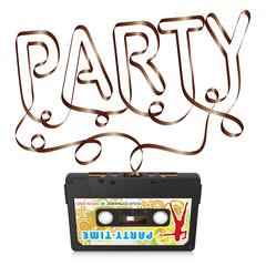 Audiokassette, Musikkassette, Kassette, Silhouette, Party
