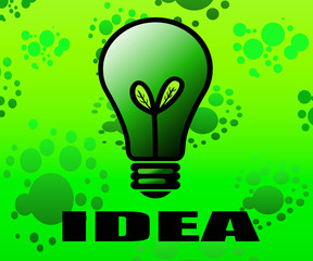 Green idea background