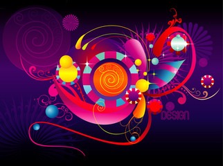 color fun abstract shapes vector