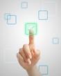 Pushing virtual check button