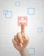 Pushing virtual red button