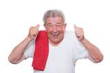 Senior freut sich über sportlichen Erfolg