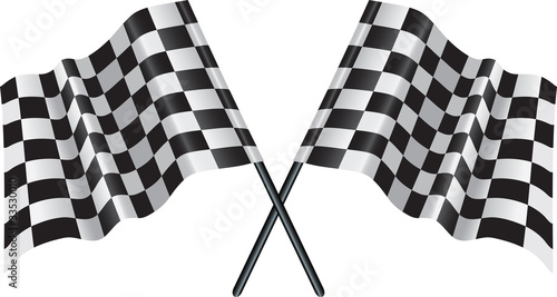 motor racing checkered, chequered flag - 33530010