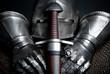 Rüstung mit Schwert