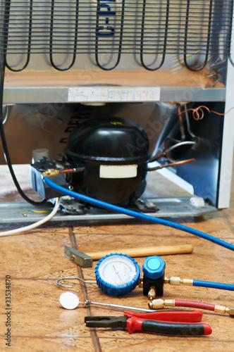 refrigerator repair and maintenance work