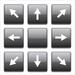 black directional key set