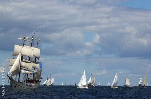 Windjammer auf der Ostsee