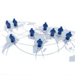 Global Player - Geschäftspartner und internationales Business