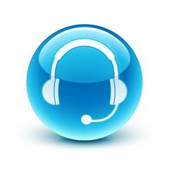 icône casque audio sav /  headphone hotline icon