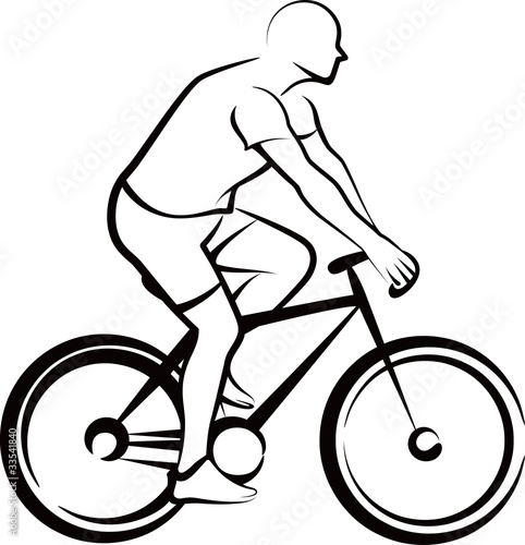 simple illustration with a bicycler