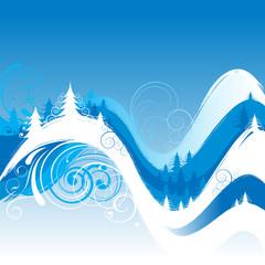 Winter swirl background