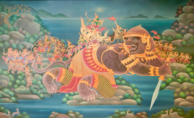 Tradition Thailand painting style