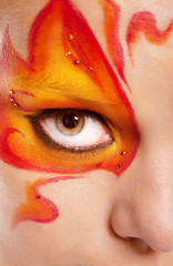 fire bodyart