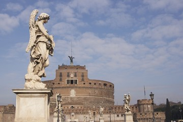 Castel Sant' Angelo in Rome, Italy.