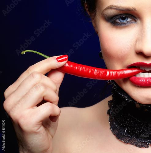 Fototapeta dziewczynka - kobieta - Zioła / Przyprawy