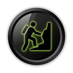 "Black Icon (Green Outlines) ""Climbing"""