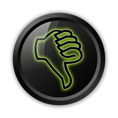 "Black Icon (Green Outlines) ""Thumbs Down"""