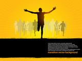 Fototapety Running people - Finishing line