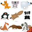 Cartoon animals set #4