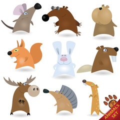 Cartoon animals set #2