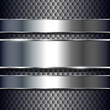 Abstract background metallic banners.