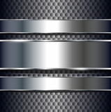 Fototapety Abstract background metallic banners.