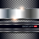 Fototapety Abstract background silver black.