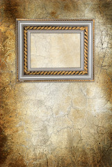 wall with antique frame