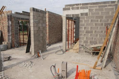 maçonnerie en brique maison individuelle