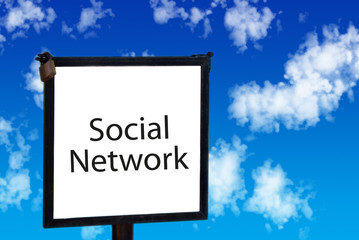 Social network sign in the sky