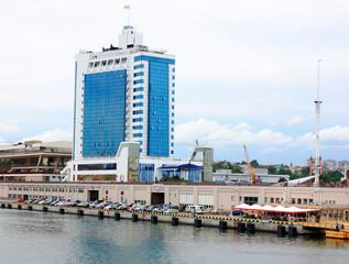 building in seaport