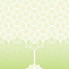 Seamless vector background - spring apple tree pattern - white