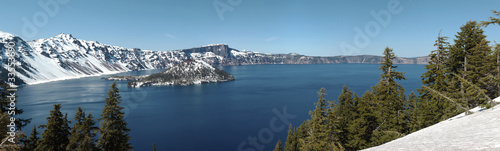 Crater Lake national park panorama, Oregon.