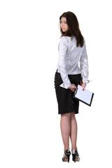 Businesswoman turn back
