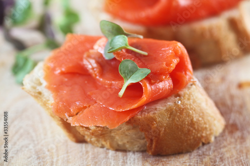 Smoked Salmon on White Bread