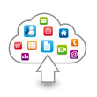 logo cloud, internet,web