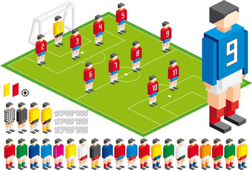 Soccer tactical Kit, in vector file elements are in layers