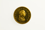 Gilt proof presentation half penny of King George III, obverse