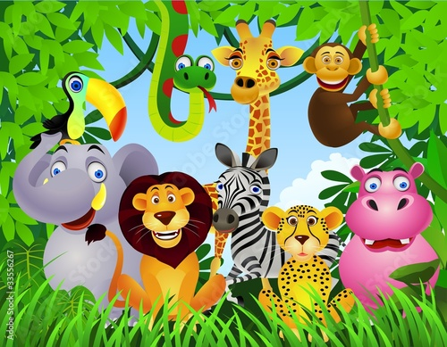 Fototapety, obrazy : Animal cartoon
