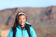 Hiking girl smiling happy