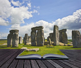 Creative concept of Stonehenge a megalithic monument built aroun