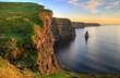 Leinwandbild Motiv Cliffs of Moher at sunset - Ireland