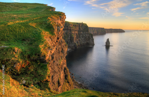 Poster Kust Cliffs of Moher at sunset - Ireland